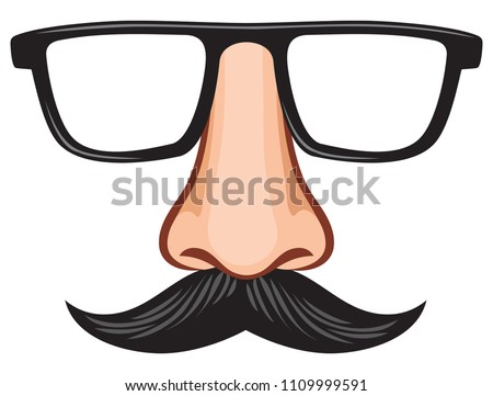 Mustache surgical mask