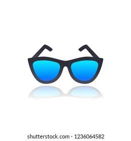 glasses on white, vector