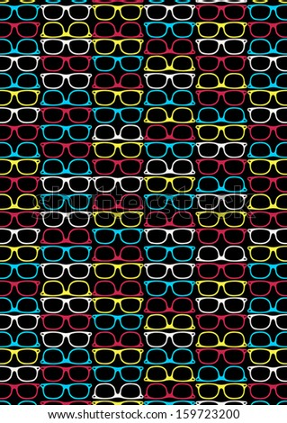Glasses Pattern Illustrator Swatch Repeat Pattern Stock Vector Mesmerizing Repeat Pattern Illustrator