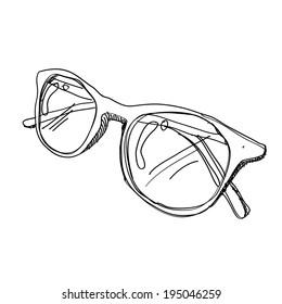 Glasses sketch vector