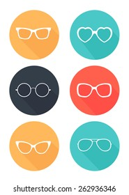 Glasses and Sunglasses icons
