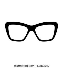 Glasses and sunglasses. Vector illustration.