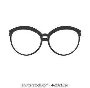 glasses traditional fashion icon. Accesory concept.  Isolated and flat illustration. Vector graphic