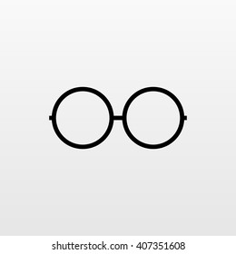 Glasses vector icon. Modern simple flat sign. Trendy intelligent symbol for web site design or button to mobile app. Logo illustration.