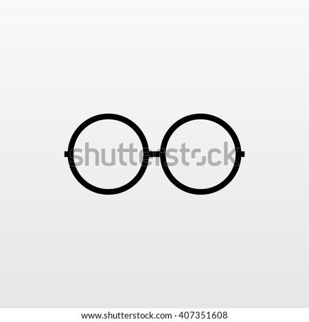 Glasses vector icon Modern