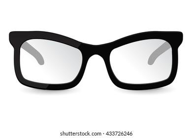 Glasses. Vector illustration isolated on white background