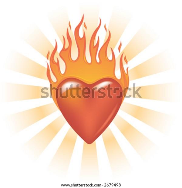 Glassy Flaming Heart
