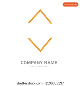 Glide company logo design template, Glide logotype vector icon, business corporative