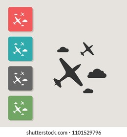 Glider - vector icon. Symbol for web, infographics, print design and mobile UX/UI kit. Vector illustration, EPS10.