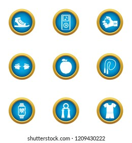 Gliding icons set. Flat set of 9 gliding vector icons for web isolated on white background