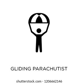 Gliding parachutist icon. Gliding parachutist symbol design from Activity and Hobbies collection. Simple element vector illustration on white background.