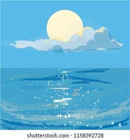 Glistening summer sea