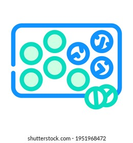 glister with pills color icon vector. glister with pills sign. isolated symbol illustration