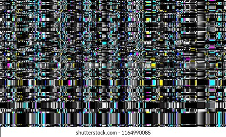 Glitch. Abstract shapes. Chaos. Pixel. Cyberpunk. Computer screen error. Digital design. Pixel noise. Virtual. TV signal fail. Futuristic. Glitch background.