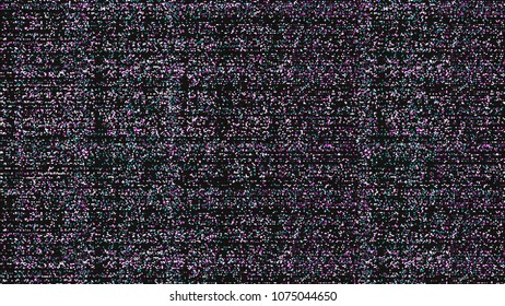 Glitch background. Computer screen error. Digital design concept. Pixel noise. HDTV no signal. 3d. Video game glitch. Glitch screen. Television fail. Data decay. Technical problem grunge wallpaper.