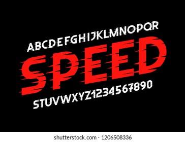Glitch font. Modern face. Vector typography illustration. Alphabet design for logo, lettering and prints.