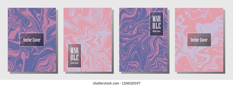 memphis marble pattern binder cover layout stock vector royalty