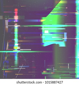 Glitch pixel noise abstract background. Digital signal fail and error. Vector illustration.