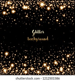 Glitter background with glowing lights