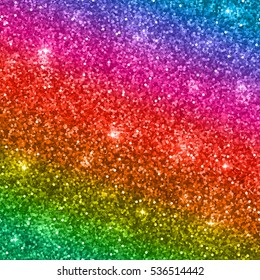 Glitter background with shiny sparkles and rainbow colors. Vector