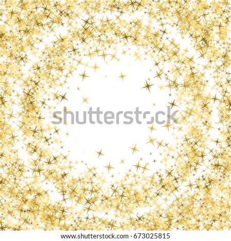 Glitter Confetti Circle Magic Shining Sparkles Stock Vector (Royalty ...