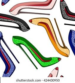 Glitter shoes pattern