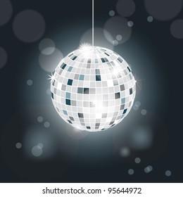 Glittering disco ball