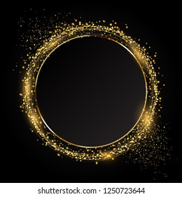 Glittery circle background ideal for the festive celebration