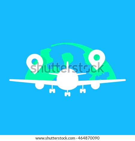 Global Airlines White Acft Fuselage Concept Stock Vector