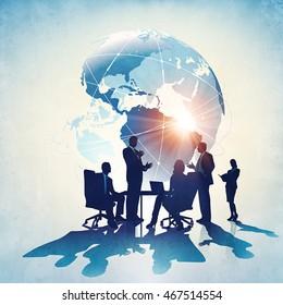 Global Business. Concept business illustration.