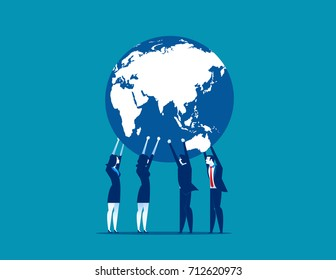 Global Business. Concept business vector illustration.