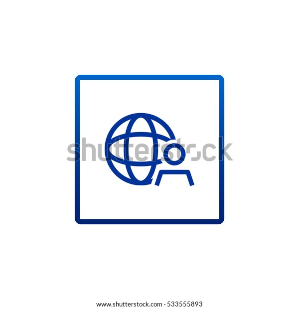 Global business icon Vector.