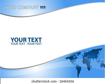 Global business template vector