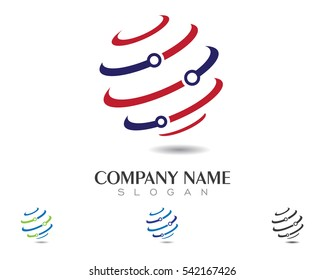 Global Cable, wires, wiring logo template vector icon