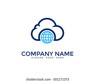 Global Cloud Logo Design Template