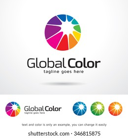 Global Color Logo Template Design Vector