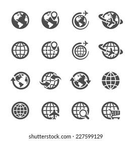 global communication icon set, vector eps10.