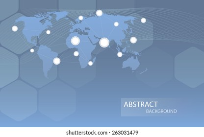 Global communicational channels background. Vector illustration. Clip-art