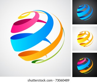 Global connection abstract icons