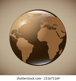 global design over beige background, vector illustration