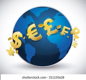 Global economy design, vector illustration eps 10.
