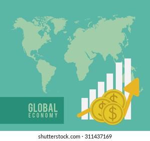 Global Economy digital design, vector illustration eps 10