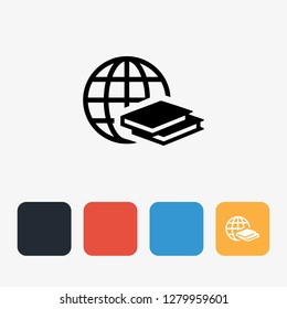 Global Education Fill Icon Concept