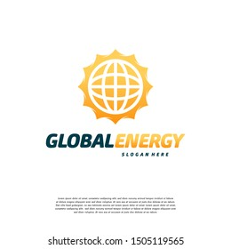 Global Energy logo symbol template, Sun Power logo designs concept vector