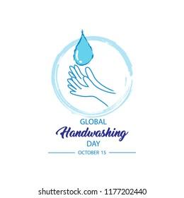 Global Handwashing Day concept, 15 October