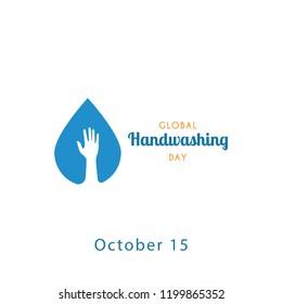 Global handwashing day design template. Vector illustration