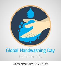 Global Handwashing Day vector icon illustration