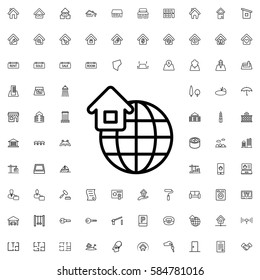 global home icon illustration isolated vector sign symbol. Real Estate icons set.