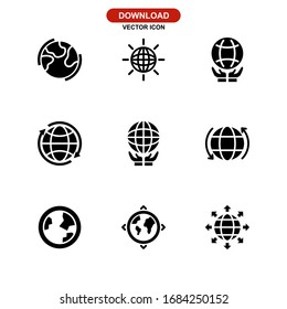 global icon or logo isolated sign symbol vector illustration - Collection of high quality black style vector icons