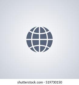 Global icon, world icon